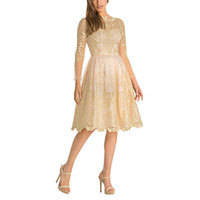Chi Chi Pixie dress cream-gold L