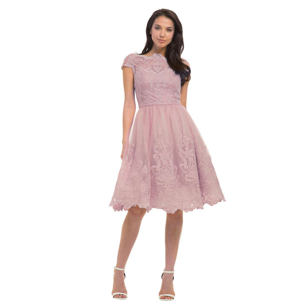 Chi Chi Liviah Kleid mink M L   Born9Style Fashion Store