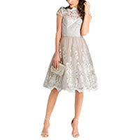 Chi Chi Heather Kleid taupe-silber M-L