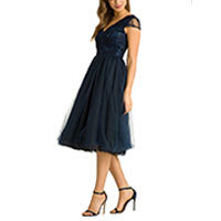 Chi Chi Cosette dress navy XS-M