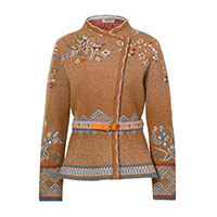 Ivko Jacket Geometric Pattern tabac (82610) 38-42