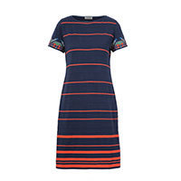 Ivko Striped Dress Intarsia Pattern (81619) 40-42