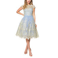 Chi Chi Kina dress blue-gold