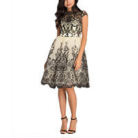 Chi Chi Henna dress black-cream