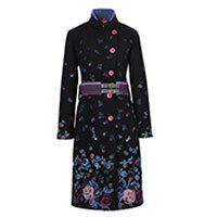 Ivko Boiled Wool Coat with Embroidery (82501) Gr. 40-42