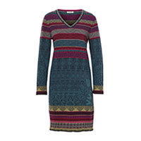 Ivko Geometric Print knit dress marine (82619) 40