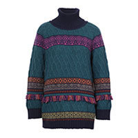 Ivko Pullover Structure Pattern petrol (82627) Gr.36-42