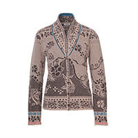 Ivko Collar Jacket Floral Pattern beige (72511) 40 or 42
