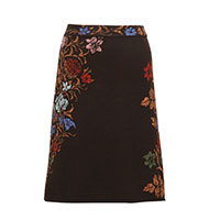 Ivko Jacquard Skirt Floral Pattern brown (82531) Gr.38-40