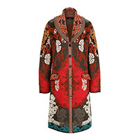 Ivko Coat Brocade Floral Pattern brown (202503) 38-44