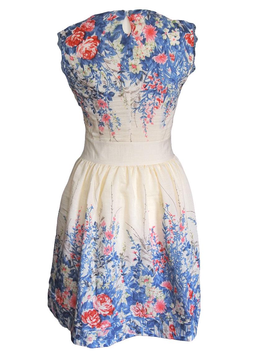 4dffc6c94f4f Darling Adele Kleid blau weiß XS o. M
