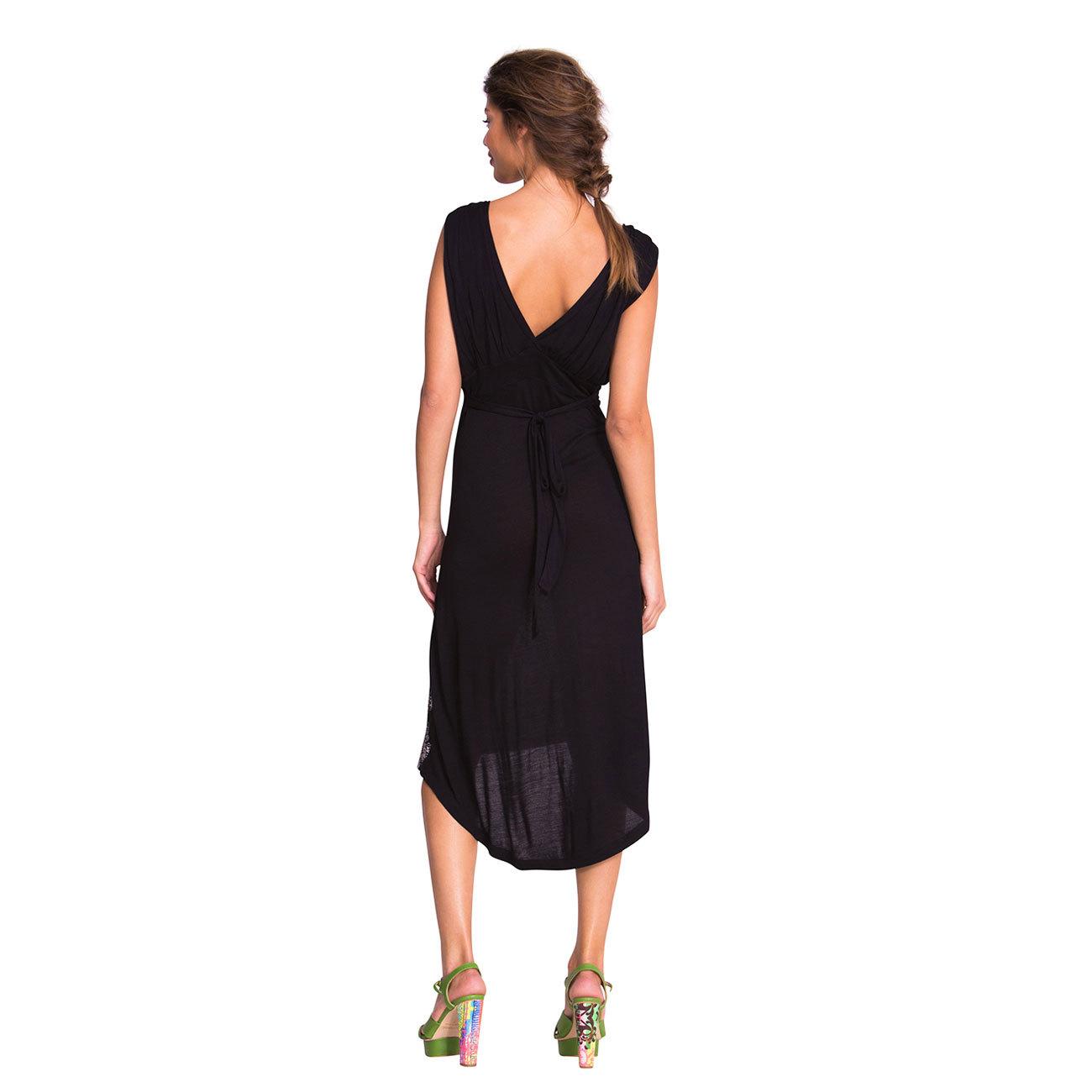 %Desigual Quita Kleid schwarz M-XL neue Sommer Kollektion ...