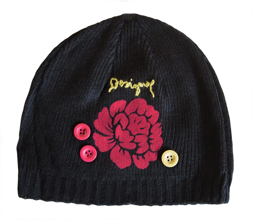 Desigual hat Gorra C.O. Flor black - Born2Style Fashion Store b33d90b4c2b