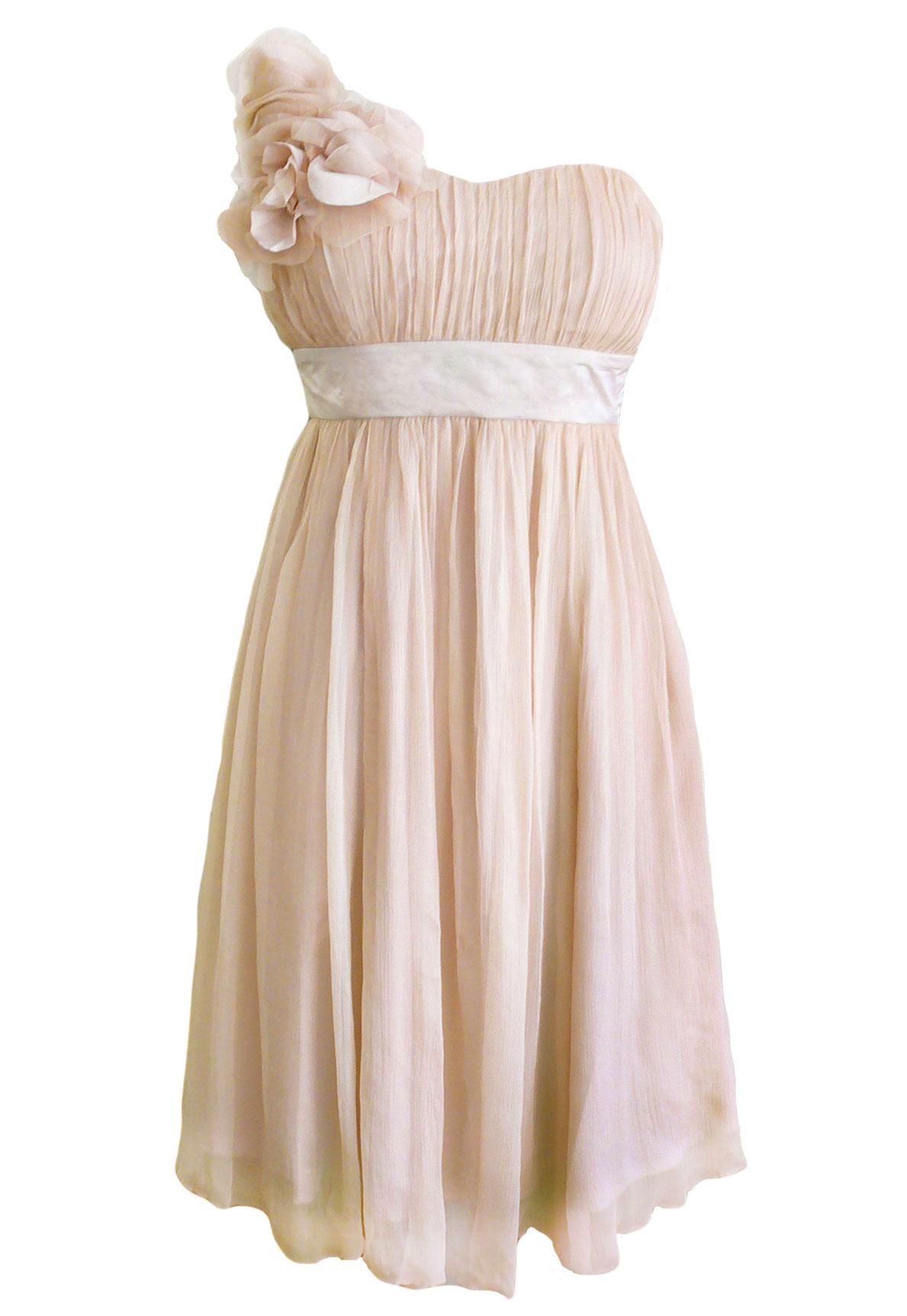 Fever London Ivy Seiden Kleid nude M-XL
